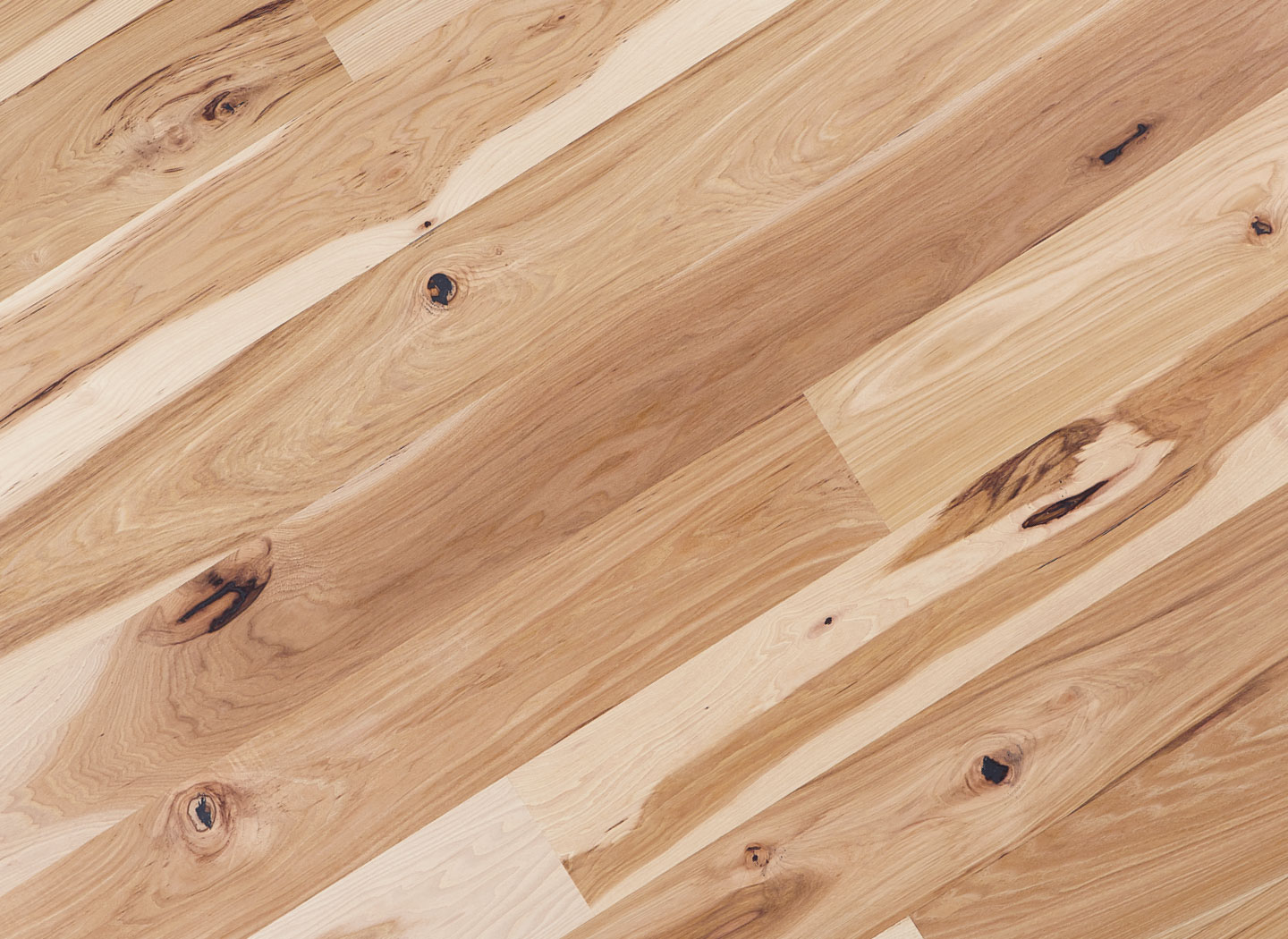 Light rustic hickory pecan flooring