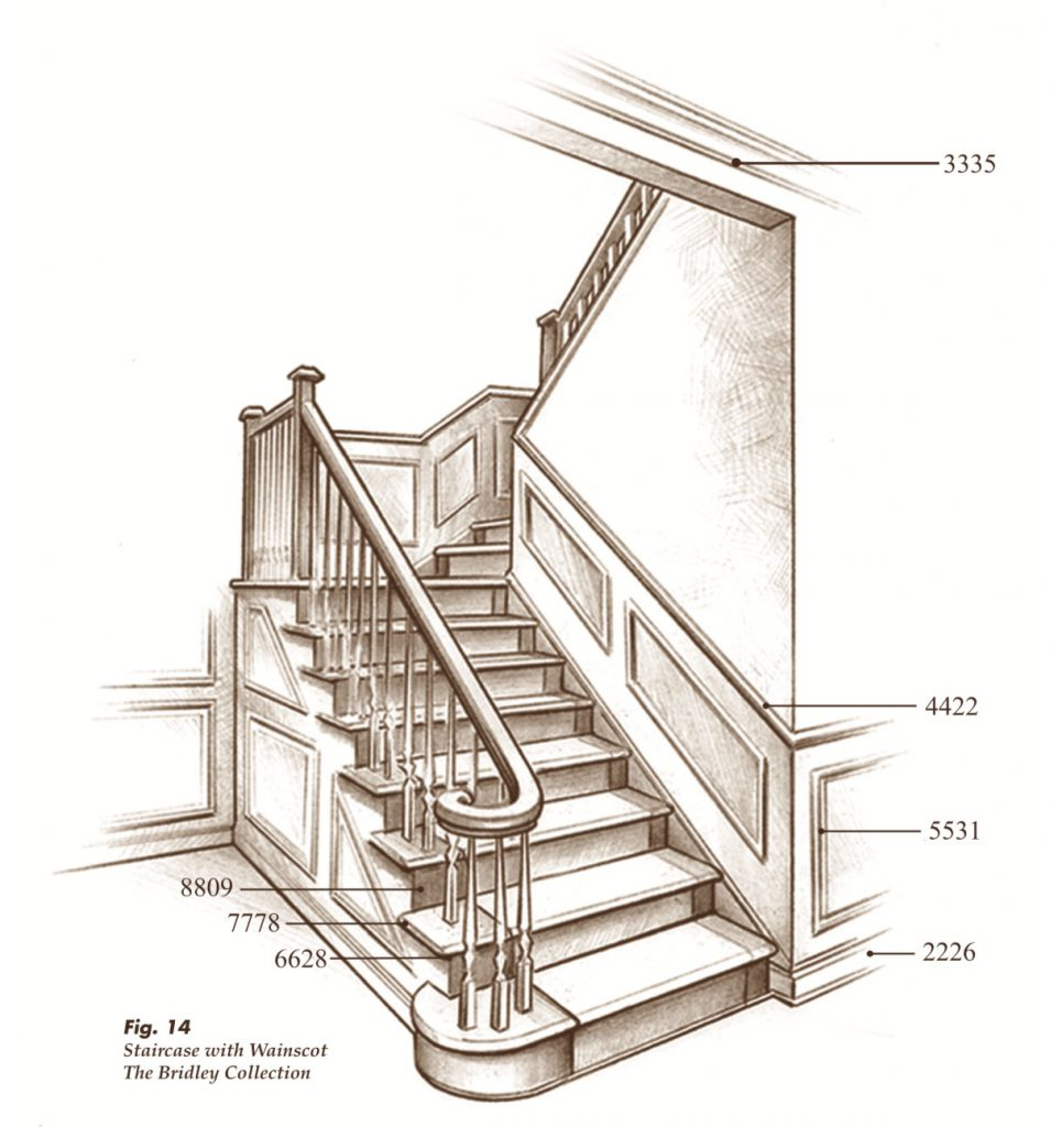 The Bridley™ Collection Saroyan Hardwoods Bridley Collection Staircase 954x1024