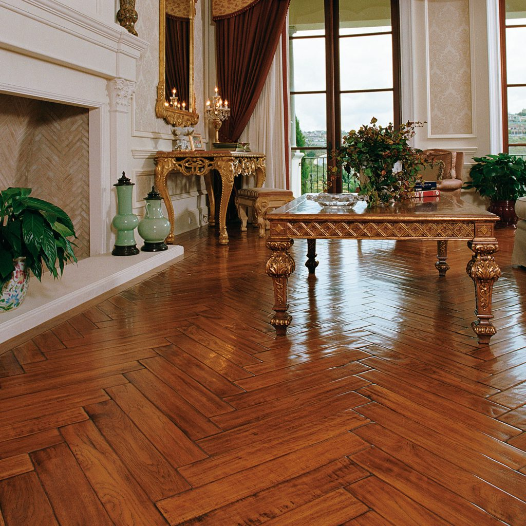 Traditional Living Room with Herringbone Design  Inspiration Saroyan Hardwoods Flooring Herringbone Traditional 1024x1024