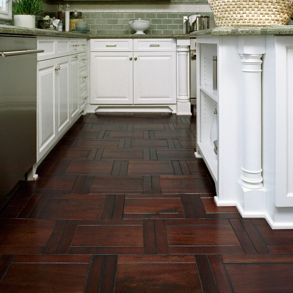 Kitchen, Parquet Hardwood Floor