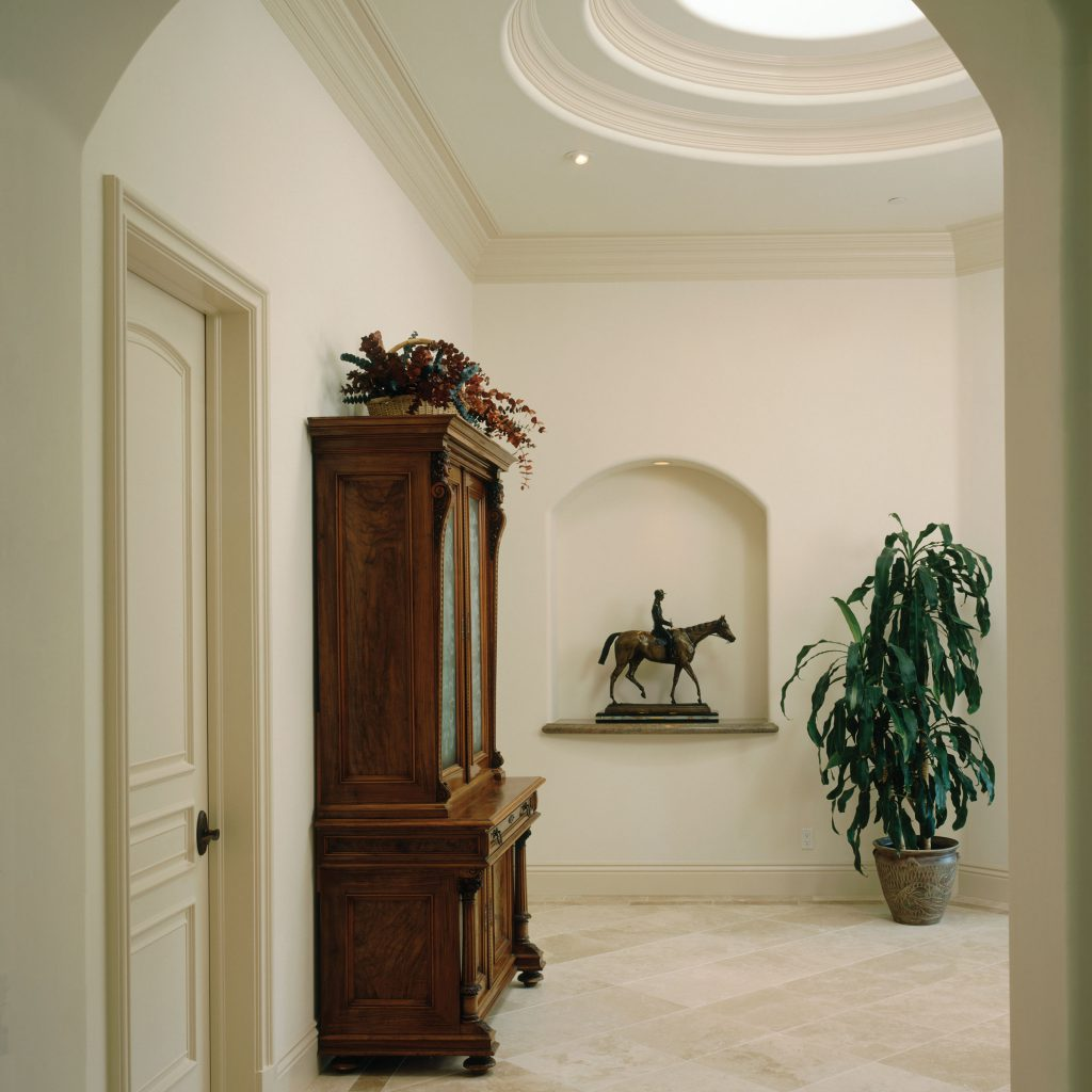 Traditional Foyer with Skylight
