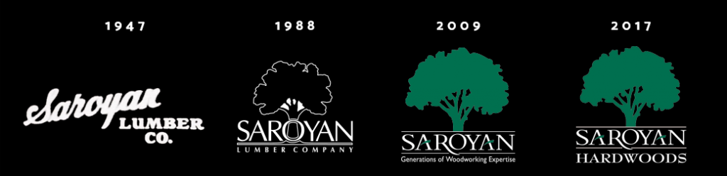 A Year in Review: 2017 at Saroyan Hardwoods Saroyan Hardwoods Logos History Black 1024x248