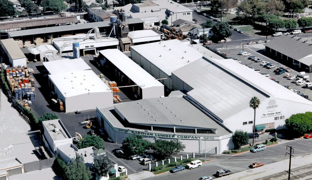 Home v2 Saroyan Hardwoods Los Angeles Alameda Facility Aerial Shot 1024x592