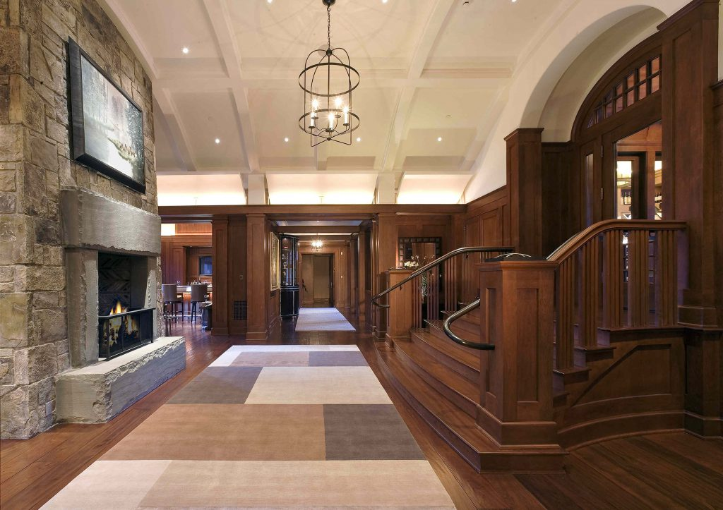 Cherry Hardwood Plank Flooring with Custom Moulding and Millwork also by Saroyan Hardwoods.