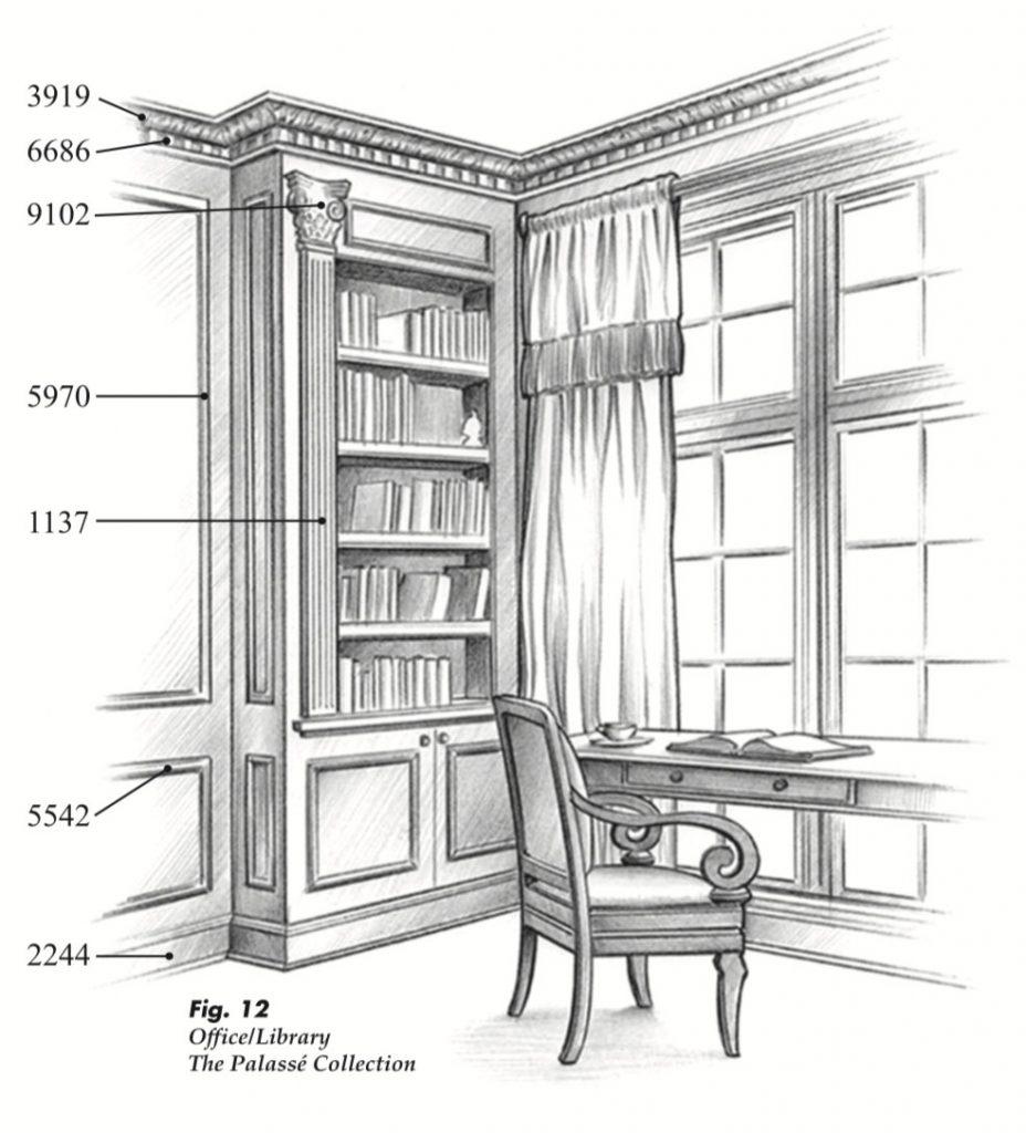 The Palassé™ Collection Saroyan Hardwoods Palasse Collection Library 928x1024