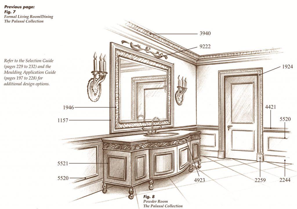 The Palassé™ Collection Saroyan Hardwoods Palasse Collection Powder Room 1024x721
