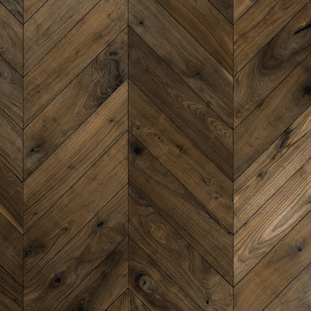 Walnut Flooring - Chevron
